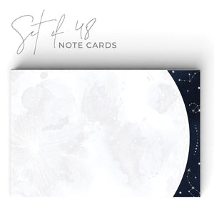 Moon & Stars Notecards, 4 x 6 inches, Set of 48 - Stationery- dashleigh