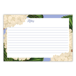 Floral White Recipe Cards, Water Resistant - Recipe Card- dashleigh