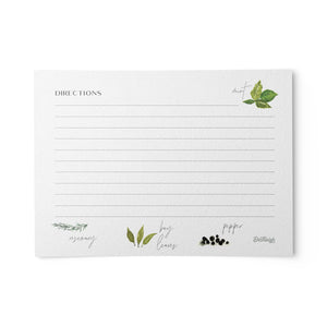 Herb Recipe Cards, Set of 48, 4x6 inches, Water Resistant
