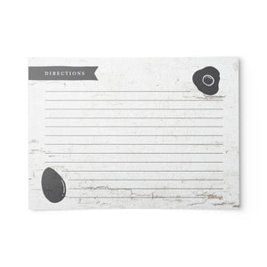 Rustic Farmhouse Chicken Recipe Cards, Water Resistant