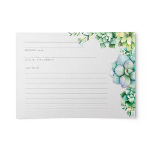 Succulents Recipe Cards, 4x6 in. Water Resistant