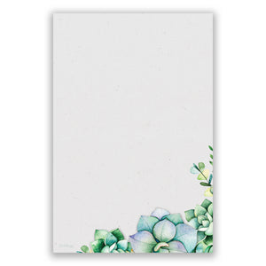 Succulents Notepad, 4x6 in - Notepads- dashleigh