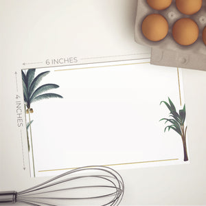 Gold Foil Tropical Palms Notecards