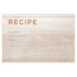 Wood & Copper Recipe Cards, Water Resistant