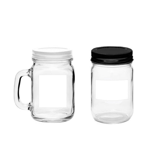 60 Printable Jar Labels for Pint, 2.5x1.9 inches, Waterproof Vinyl White
