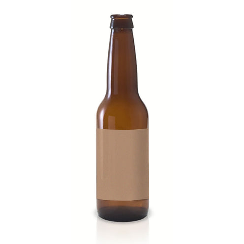 15 Full Wrap Kraft Beer Bottle Labels, 7 x 3 in. - Labels- dashleigh