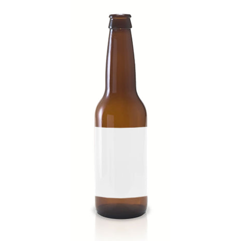 30 Large Vinyl Beer Bottle Printable Labels, 4x3 inches