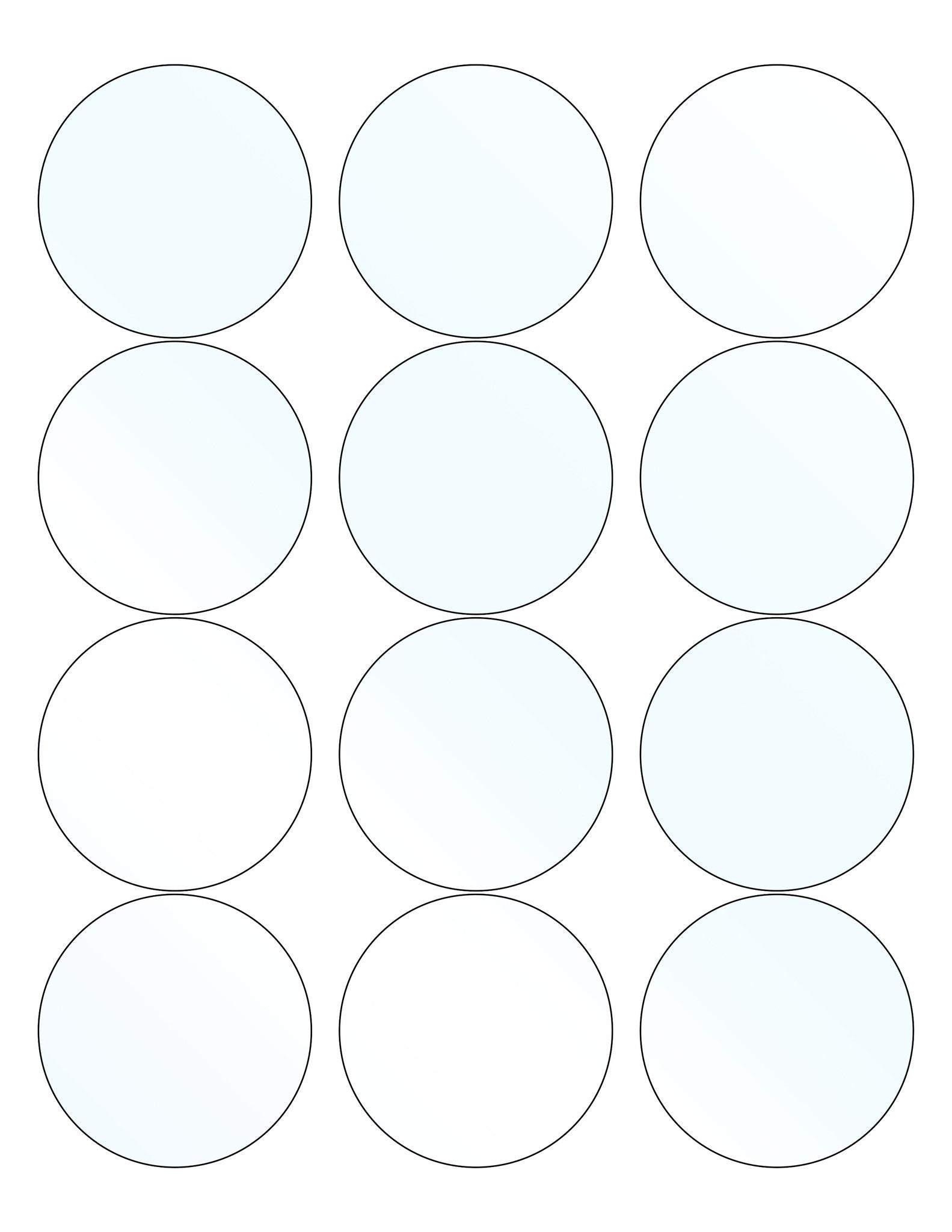 60 Circle Wide Mouth Jar Labels 2 5 In Clear Gloss