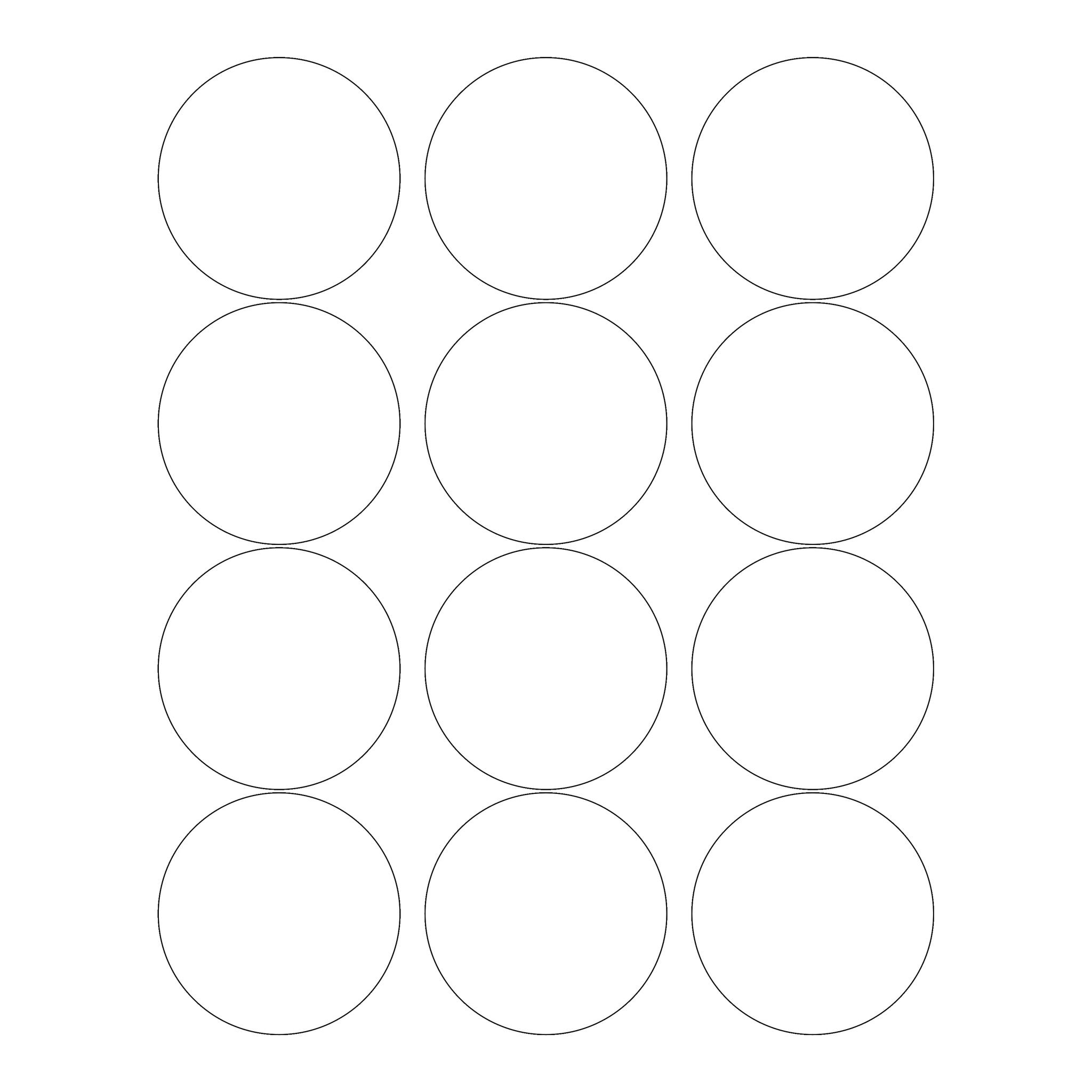 60 Circle Wide Mouth Jar Labels, 2.5 inches, Clear Gloss - Labels- dashleigh