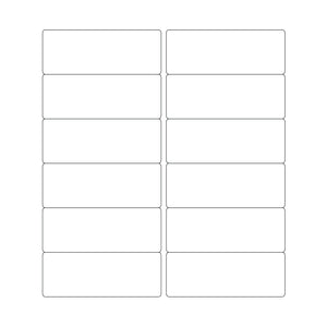 120 Labels for 2 oz Bottles, 4 x 1.5 in., White Vinyl - Labels- dashleigh
