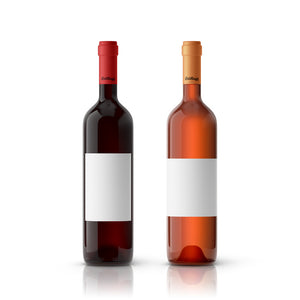 40 Large Wine Labels, 4x5 in., Waterproof White Vinyl - Labels- dashleigh