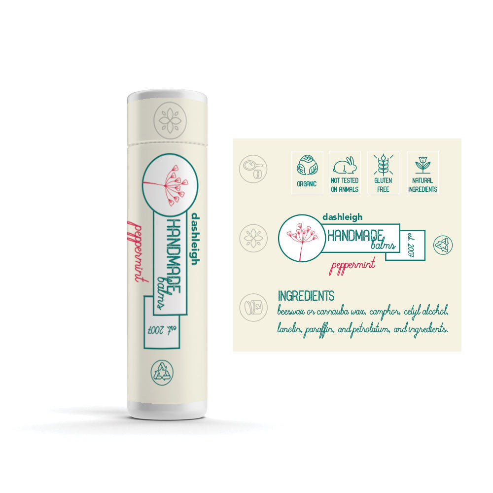 White Vinyl Lip Balm Labels with Security Seal,  2 x 2.15 inches, Waterproof - Labels- dashleigh