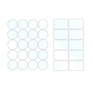 Mason Jar Labels for 40 Jars and Lids, Multiple Colors - Labels- dashleigh