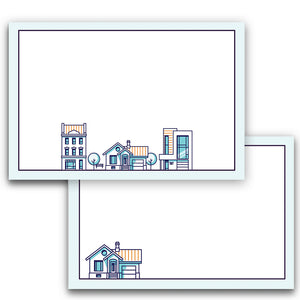 Realtor Note Cards, 4 x 6 inches, Set of 50 - Stationery- dashleigh