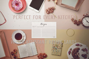 Elegant Recipe Cards, Water Resistant - Recipe Card- dashleigh
