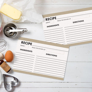 Modern Organizer Recipe Cards, Water Resistant - Recipe Card- dashleigh