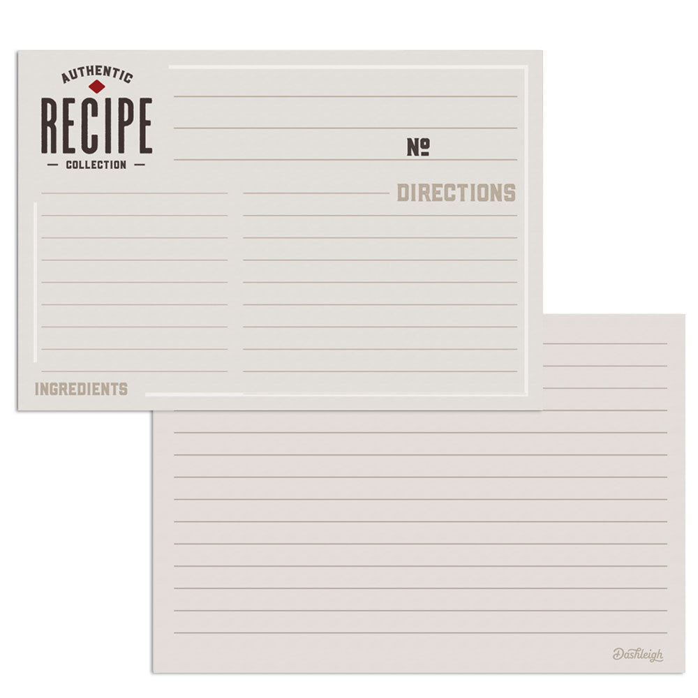 Rugged Water Resistant Recipe Card Set, 48 Cards, 4x6 inches - Recipe Card- dashleigh