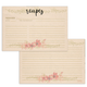 Floral Vintage Recipe Cards, Set of 48, 4x6 inches, Water Resistant - Recipe Card- dashleigh