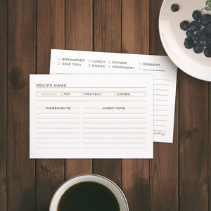 Recipe Cards for Keto and Paleo Diets, 4 x 6 inch - Recipe Card- dashleigh