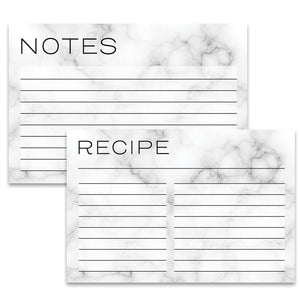 Marble Recipe Cards - Recipe Card- dashleigh