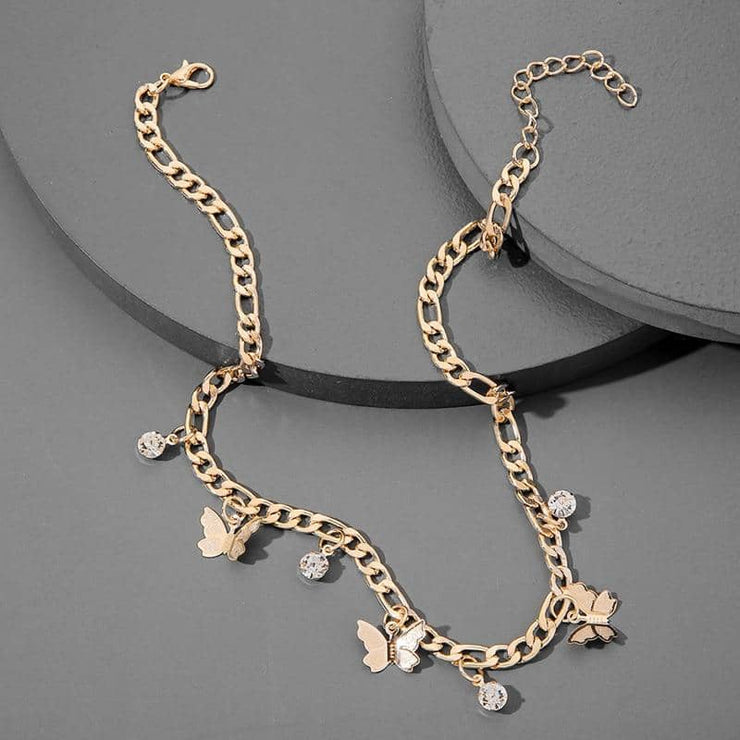 Butterflies Gold Necklace - [5 Seasons], [Trending Asian Jewelry], butterflies-gold, Gold, Limited Preview, Mother&