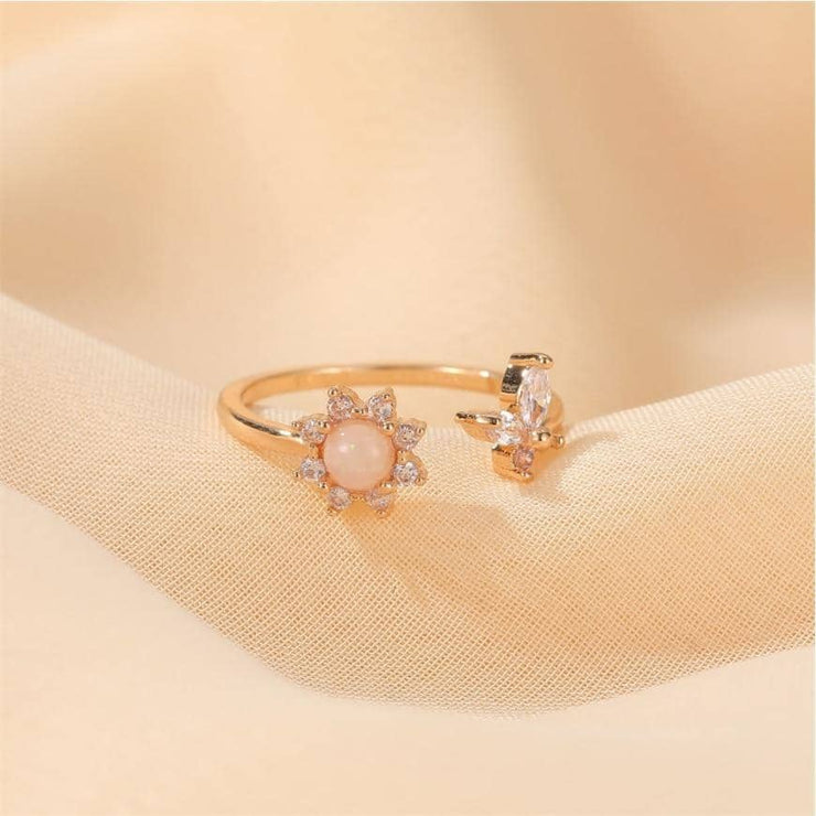 Golden Spring Flower Ring - [5 Seasons], [Trending Asian Jewelry], sunflower-ring, Gold, Mother&