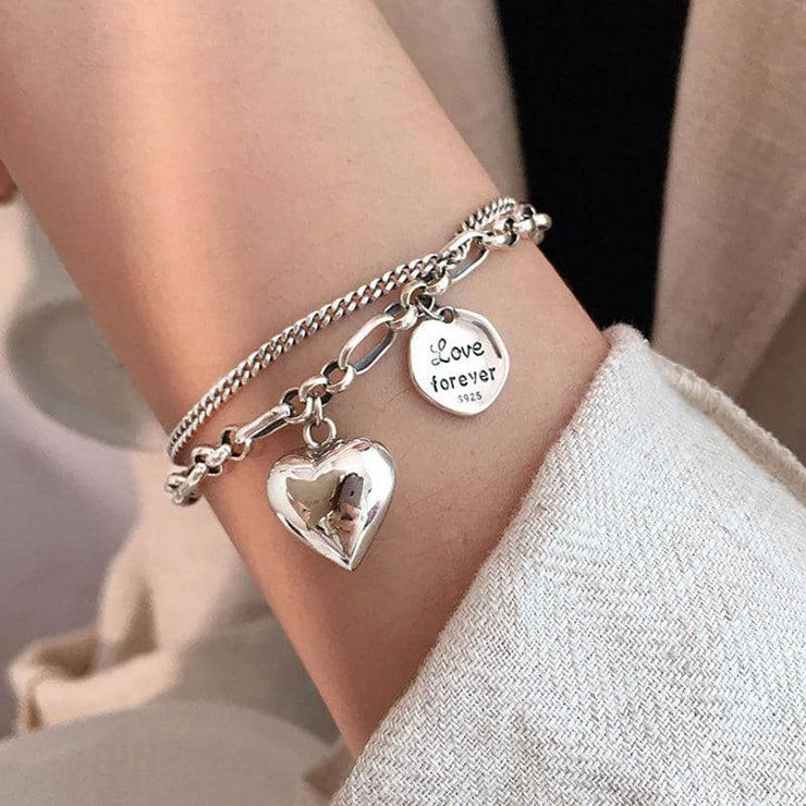 Love Forever Silver Bracelet - [5 Seasons], [Trending Asian Jewelry], love-forever-silver-bracelet, Bracelets, Mother&