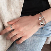 Love Forever Silver Bracelet - [5 Seasons], [Trending Asian Jewelry], love-forever-silver-bracelet, Bracelets, Mother's Day Gift Guide, Silver