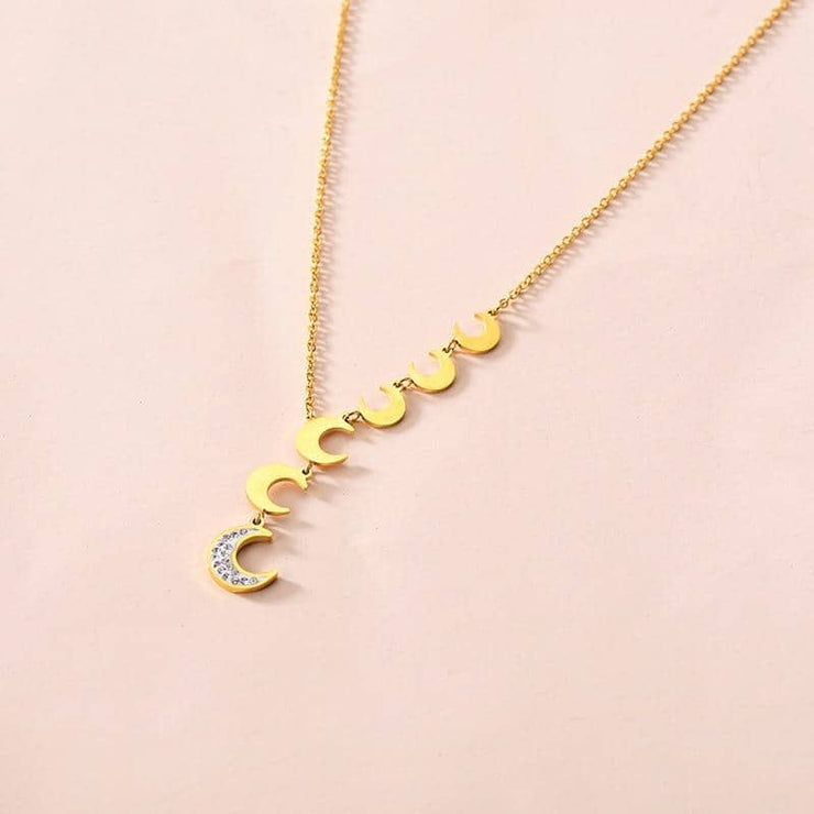 Candra Moons Necklace - [5 Seasons], [Trending Asian Jewelry], candra-moons-necklace, Gold, Limited Preview, Necklaces