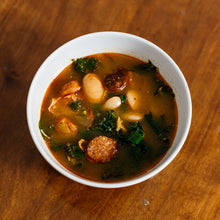 Load image into Gallery viewer, Kale Chorizo Soup with White Beans and Potatoes