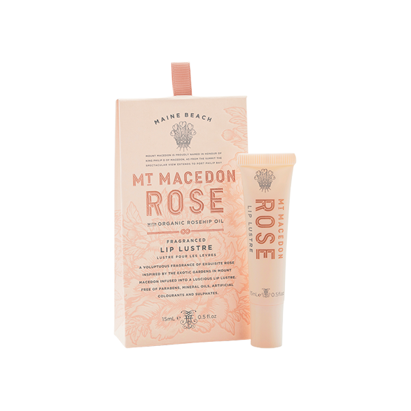 MT MACEDON ROSE LIP LUSTRE 15ML - Aussie Premier
