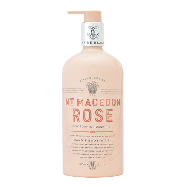 MT MACEDON ROSE HAND & BODY WASH 500ML - Aussie Premier