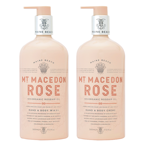 MT MACEDON ROSE HAND & BODY 500ML BUNDLE - Aussie Premier