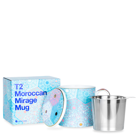 MOROCCAN MIRAGE MUG WITH INFUSER REMIX BLUE - Aussie Premier