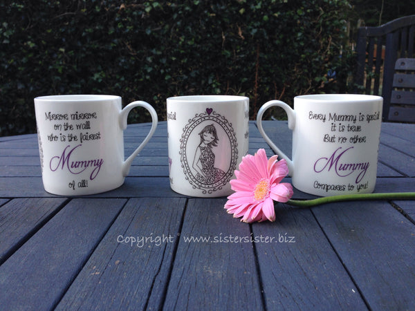 The fairest Mummy of all - Fine Bone China Mug - Mother's Day, Mothers Day, Birthday, Christmas, Gift, Coffee Mug