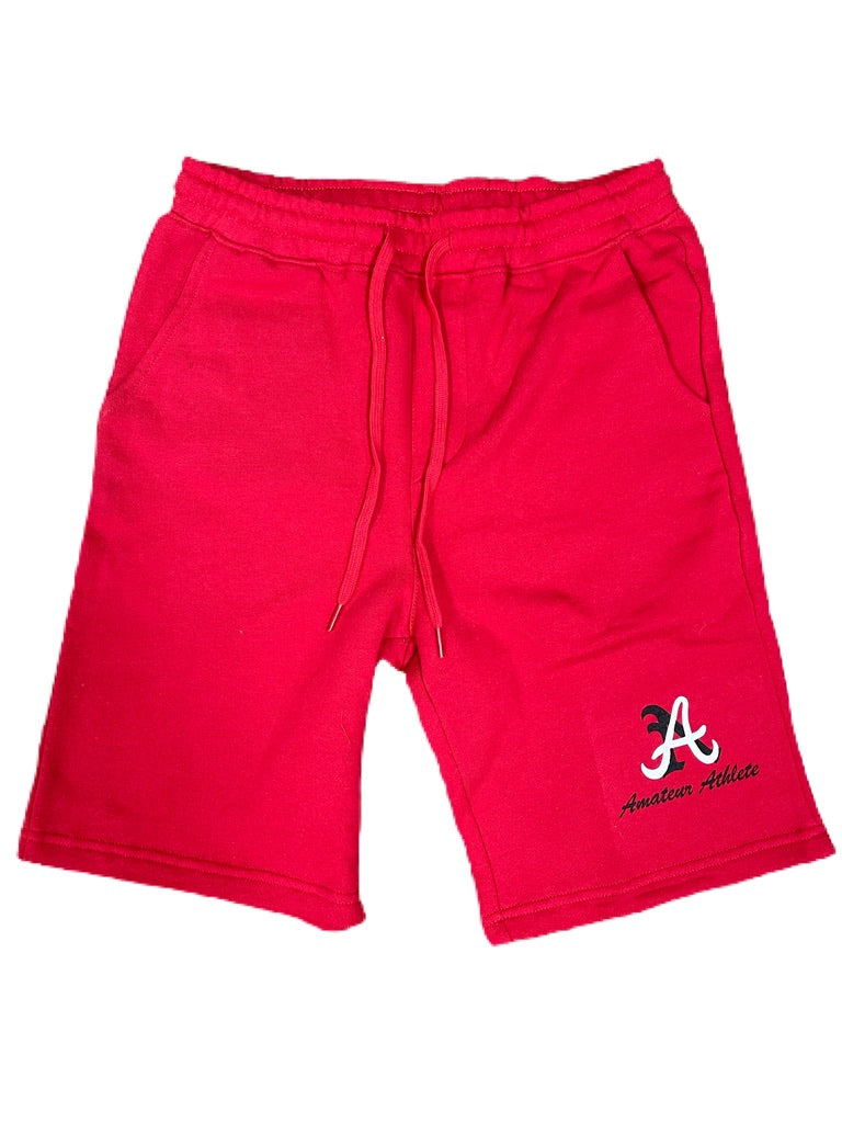 AA Red Cotton Short