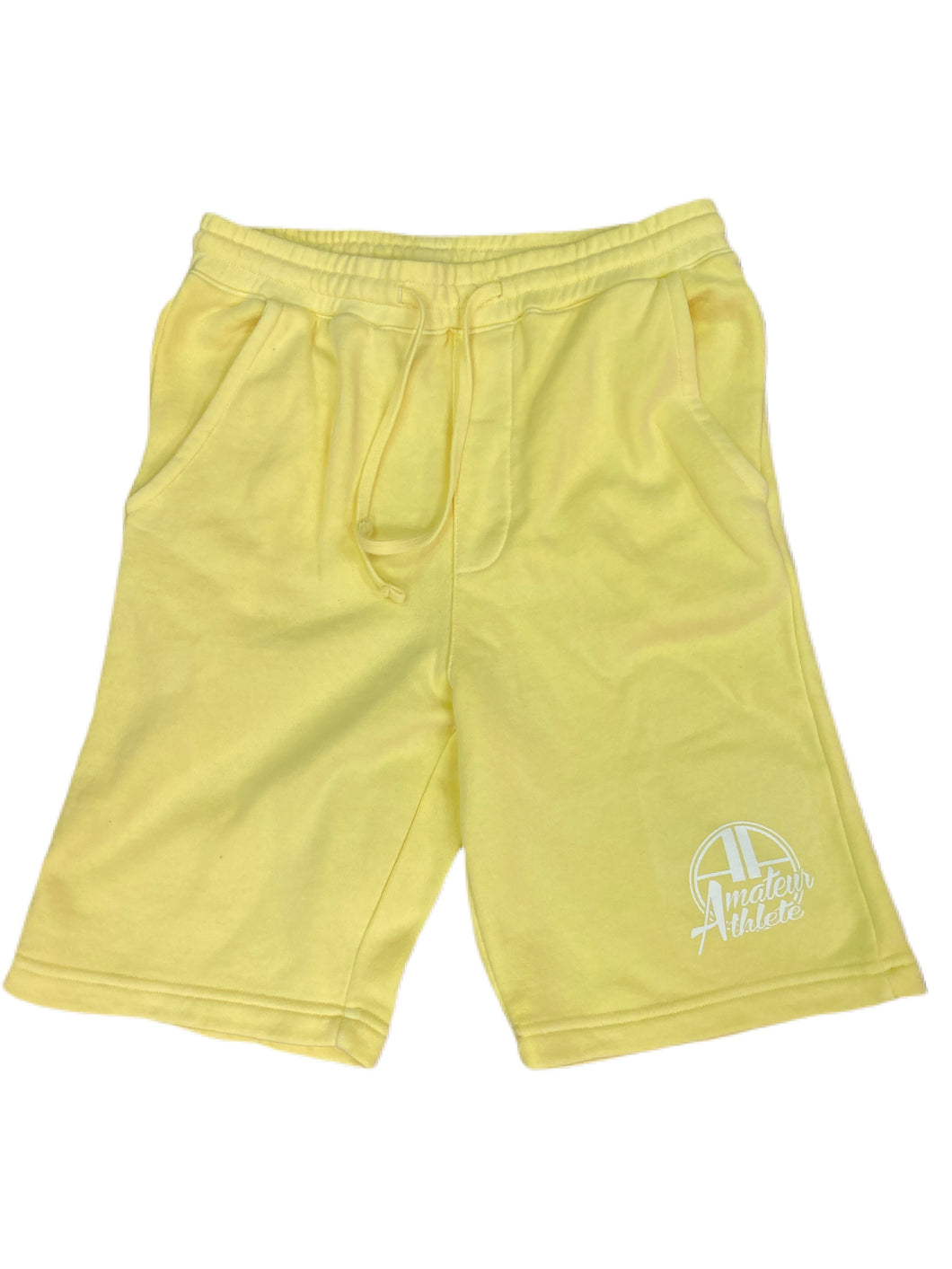 AA yellow pigment dyed shorts