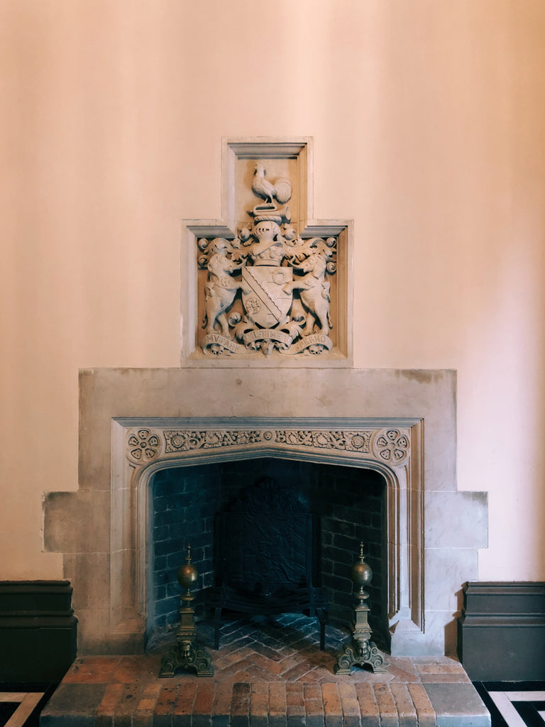 tudor arch in fireplace