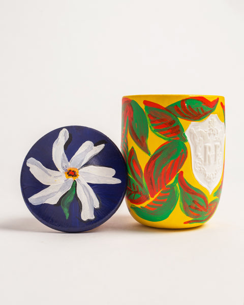 Naiad - Regime des Fleurs Artefact Candles hand painted by Voutsa
