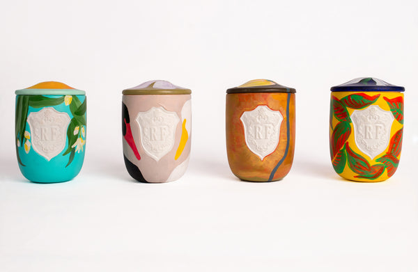 Regime des Fleurs Artefact Candles hand painted by Voutsa