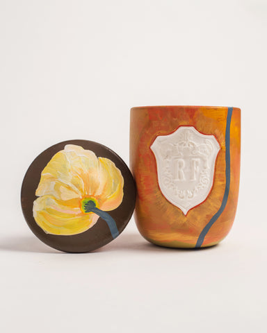 Return - Regime des Fleurs Artefact Candles hand painted by Voutsa