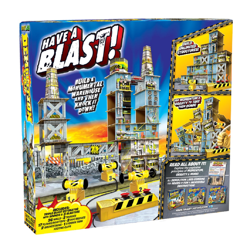 SmartLab Toys Demolition Lab Triple Blast W/house