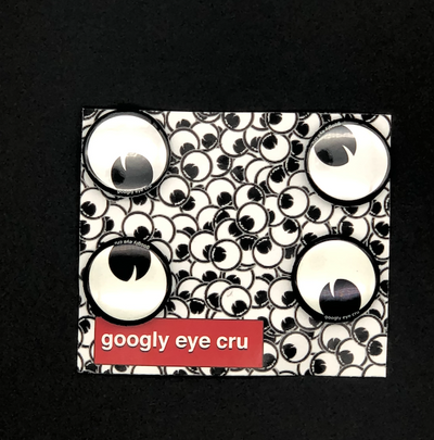 GOOGLY EYE CRU MULTI- PACK PIN SET