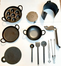Load image into Gallery viewer, Iron Miniature Cooking Set - 12 Pieces Set