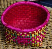 Load image into Gallery viewer, Palm Leaf Utility Basket (Single) - Multicoloured