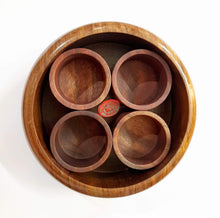 Load image into Gallery viewer, Wooden Spice Box - 4 Spices - Premium Quality