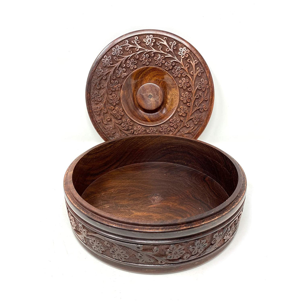 Wooden Roti Box Container - Roti Box -Serving Casseroles Model 1