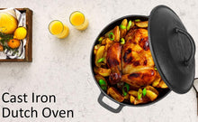 Load image into Gallery viewer, Cast Iron Dutch Oven/Biryani Pot for Cooking – Pre-seasoned, 5ltrs