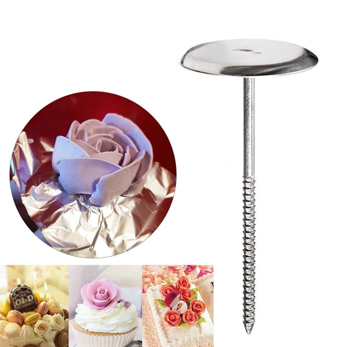 Stainless Steel Cake Cupcake Icing Cream Decorating Nail Tool DIY Flower Needle