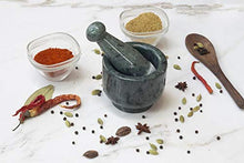 Load image into Gallery viewer, Green Marble Imam Dasta/Mortar and Pestle Set/Ohkli Musal/Kharal/Idi Kallu/Khal Musal/Khalbatta/Spice Grinder-4 Inches Marble Masher
